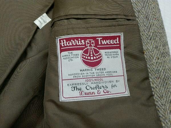 【ヴィンテージ/ジャケット】Dunn&Co ダンコー テーラードジャケット HARRIS TWEED ハリスツイード WOOL100% 英国 古着 レトロ メンズ_画像9