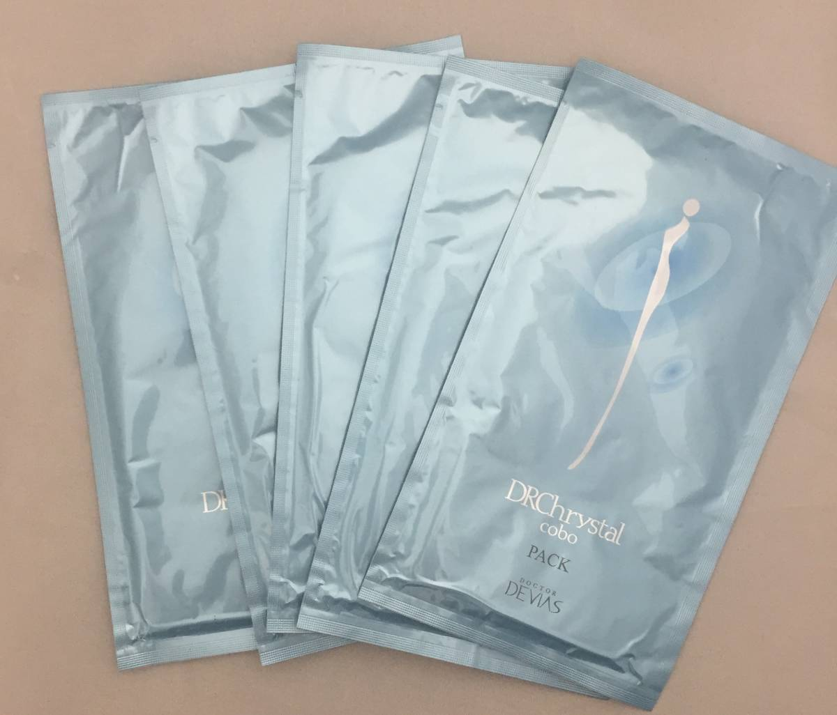 【未開封】DRデヴィアスクリスタル cobo パック(シート状保湿パック) フェイス用1枚入り15ml×5袋セット