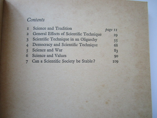 """""""The Impact of Science on Society"""" by Bertrand Russel - 洋書ペーパーバック_画像4"""