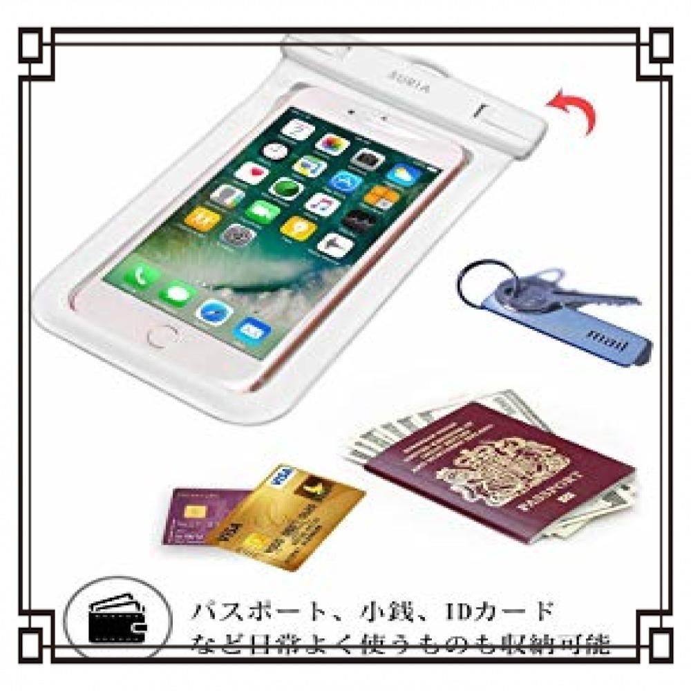 【2019最新版】 防水ケース スマホ用 IPX8認定 指紋認証/Face ID認証対応 防水携帯ケース 完全防水 タッチ可 気_画像4