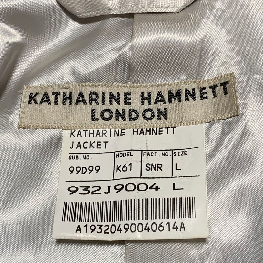 日本製! KATHARINE HAMNETT LONDON (キャサリンハムネット ロンドン) リーフ柄 テーラード ジャケット | Mens メンズ アメカジ モード 茶 L_画像5