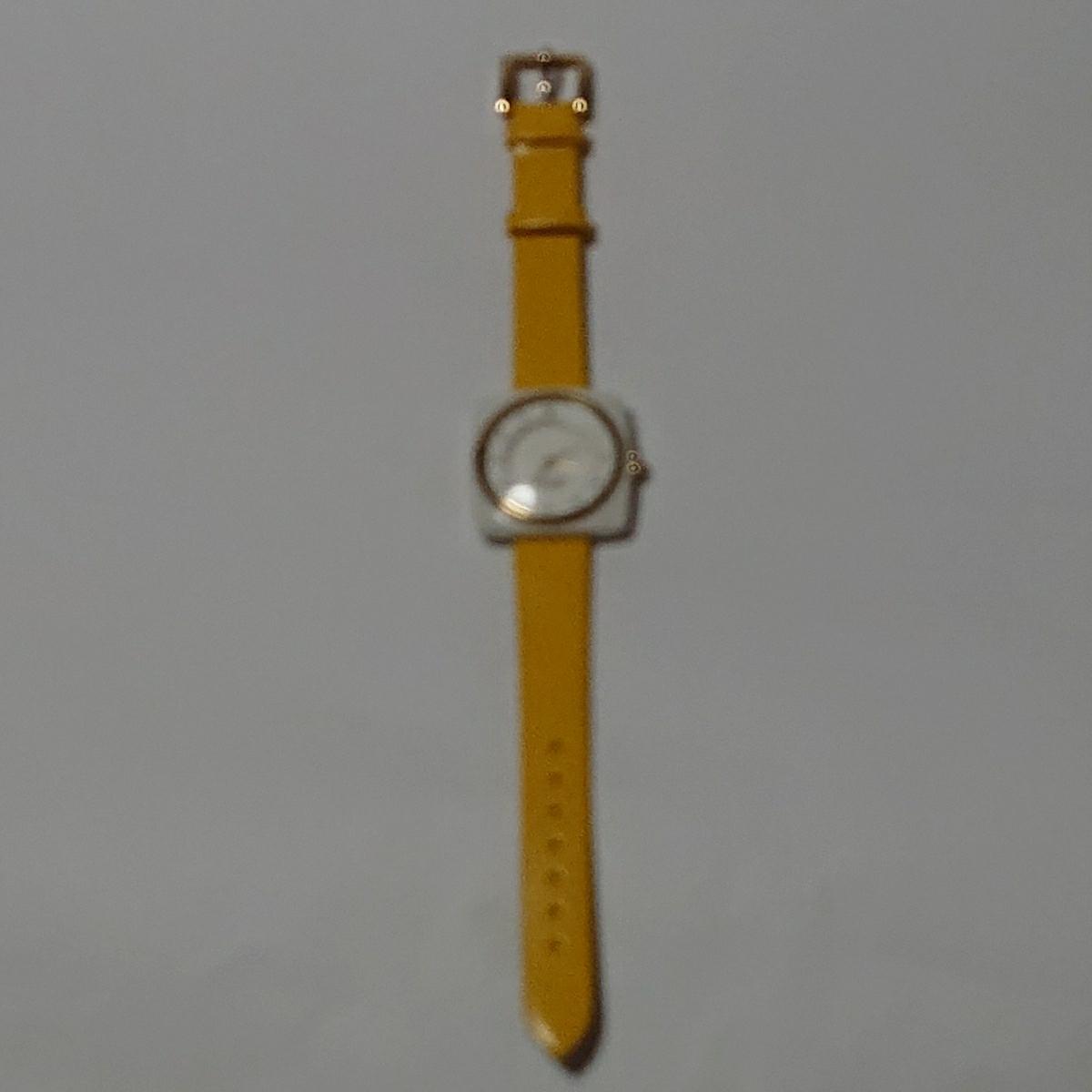 ケイトスペード レディース 腕時計 (検索)アナログ ホワイト×ゴールド×マスタードイエロー ファッション バッグ ポーチ レディース