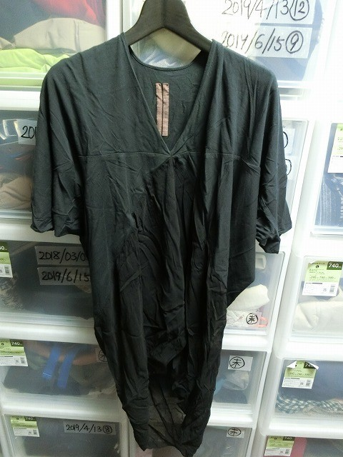 Rick Owens カットソー Tシャツ ブラック リックオウエンス_画像1