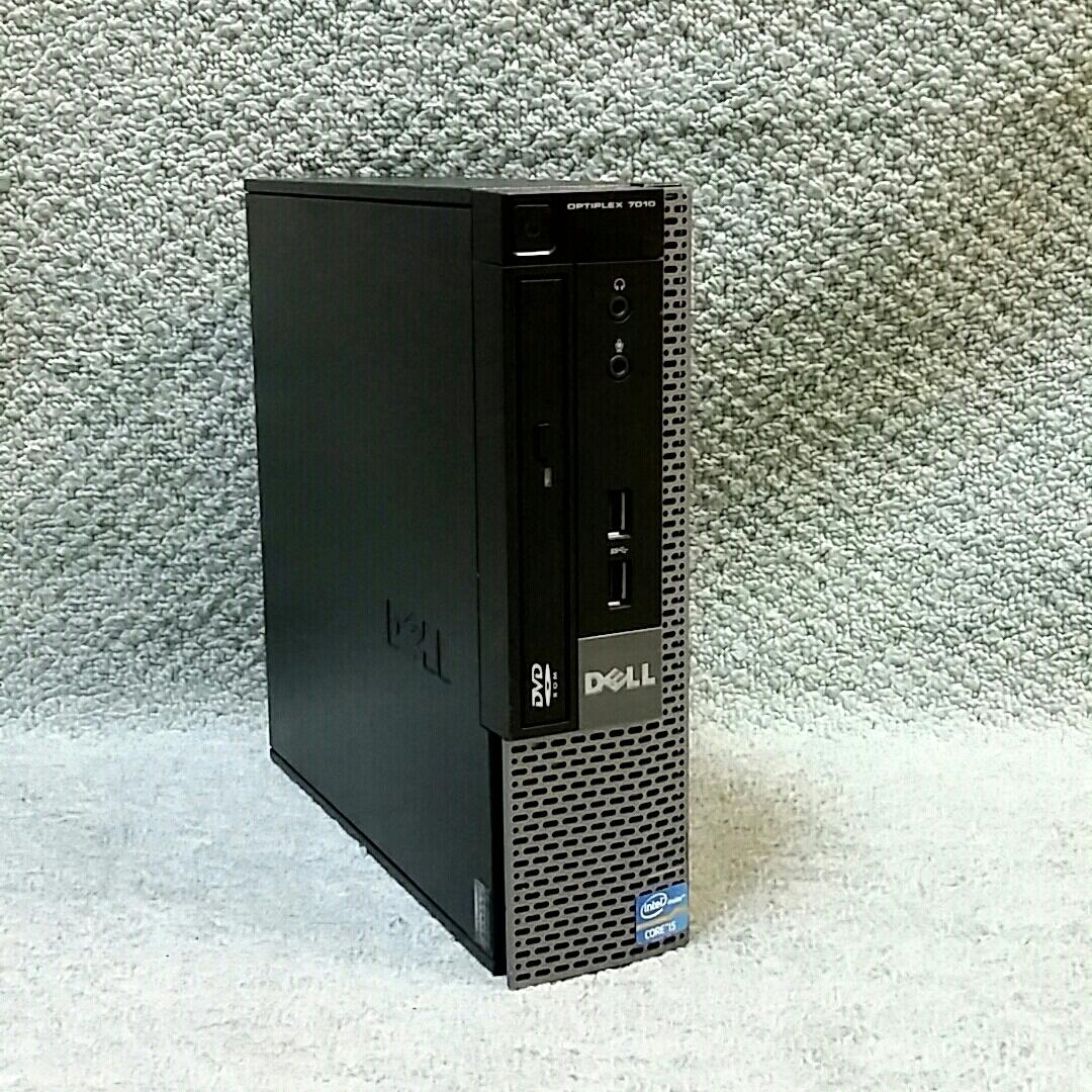 超高速 小型 送料無 DELL OptiPlex 7010 USFF ★ Core i5-3470s/メモリ4GB/新品SSD120GB/office/Win 10/Win 7/Windows XP Professional sp3