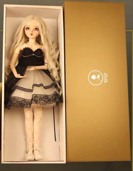 新品 BJDドール 球体関節人形 1/3 60cm 女 人形本体 ヘッド+ボディ+眼球+服装+ウィッグ+メイク フルセット 智美 中国製_画像9