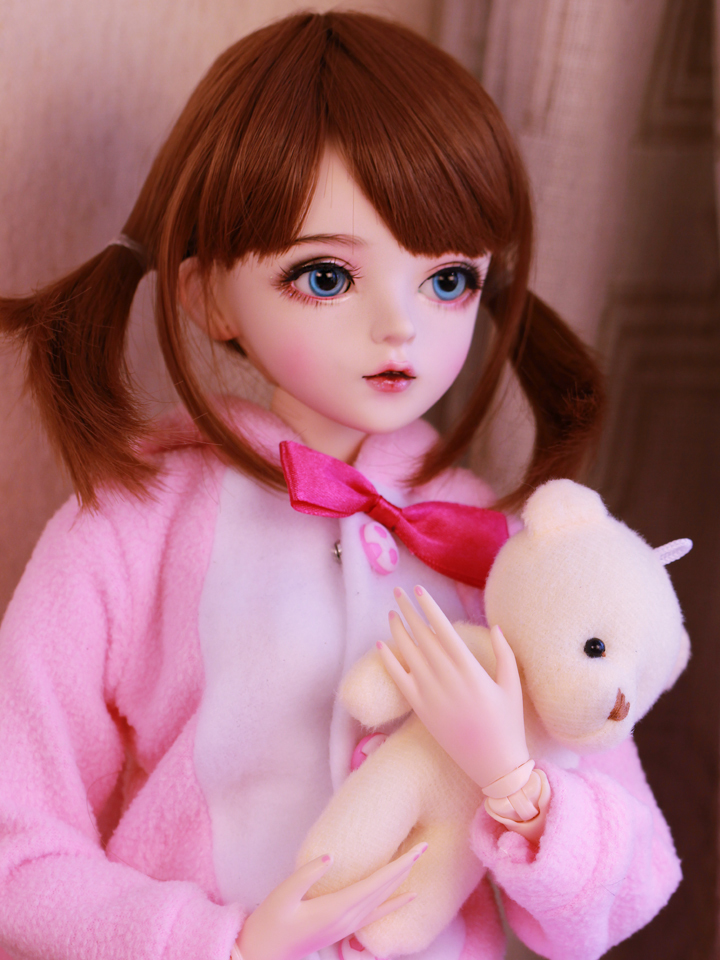 新品 BJDドール 球体関節人形 1/3 60cm 女 人形本体 ヘッド+ボディ+眼球+服装+ウィッグ+メイク フルセット 智美 中国製_画像1