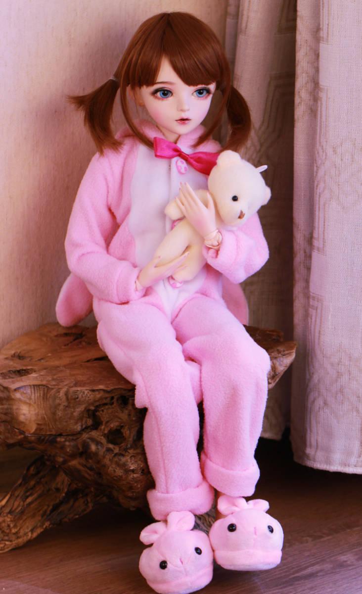 新品 BJDドール 球体関節人形 1/3 60cm 女 人形本体 ヘッド+ボディ+眼球+服装+ウィッグ+メイク フルセット 智美 中国製_画像4