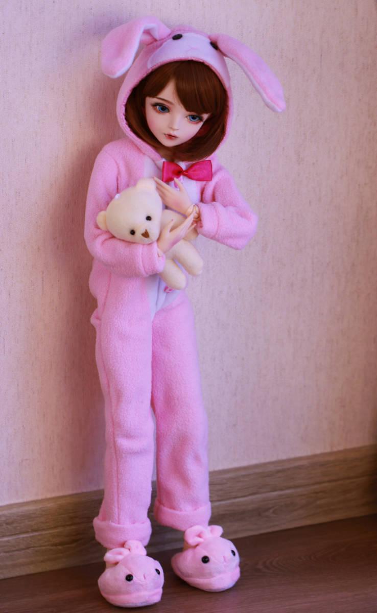 新品 BJDドール 球体関節人形 1/3 60cm 女 人形本体 ヘッド+ボディ+眼球+服装+ウィッグ+メイク フルセット 智美 中国製_画像3