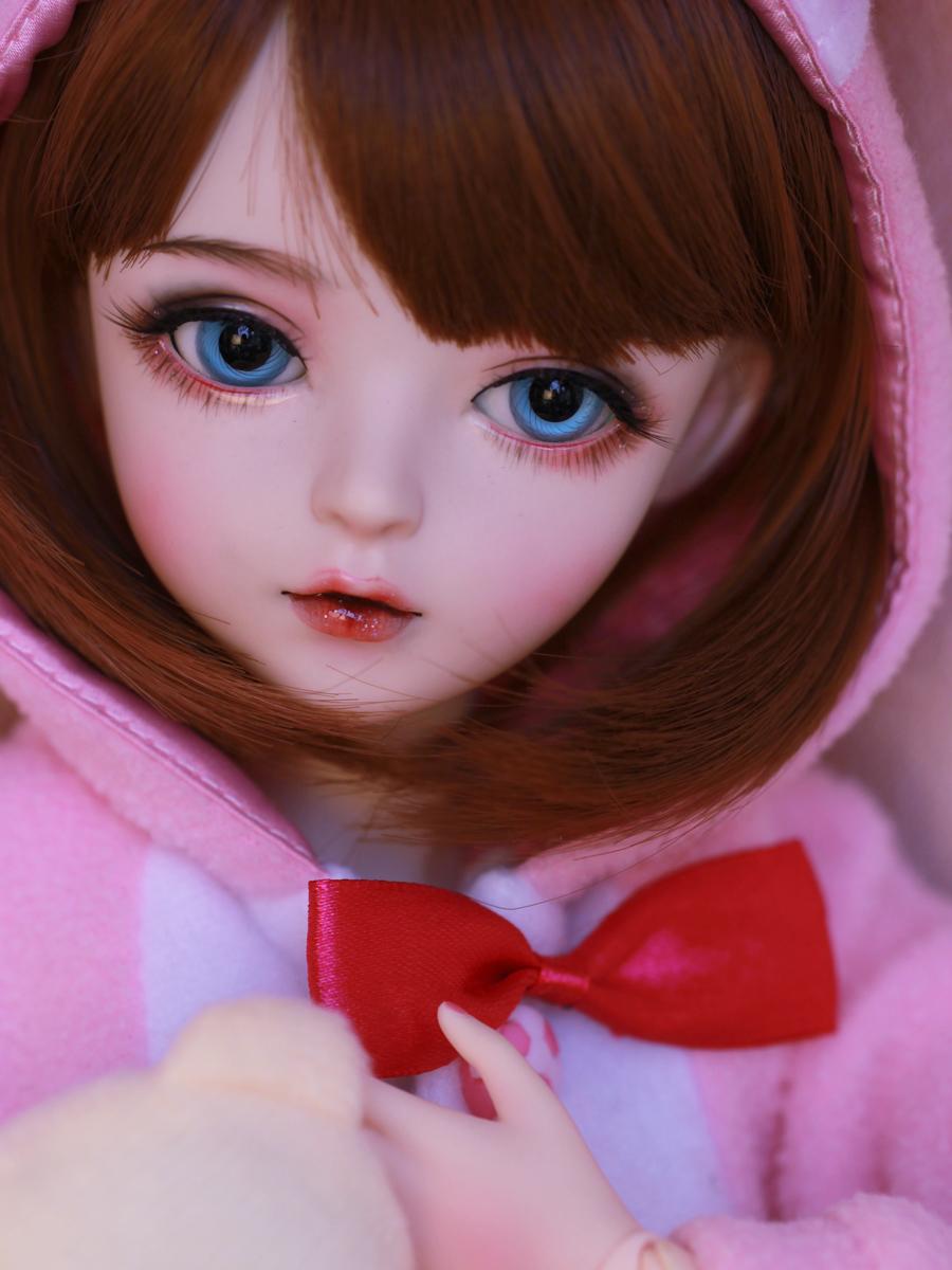 新品 BJDドール 球体関節人形 1/3 60cm 女 人形本体 ヘッド+ボディ+眼球+服装+ウィッグ+メイク フルセット 智美 中国製_画像2