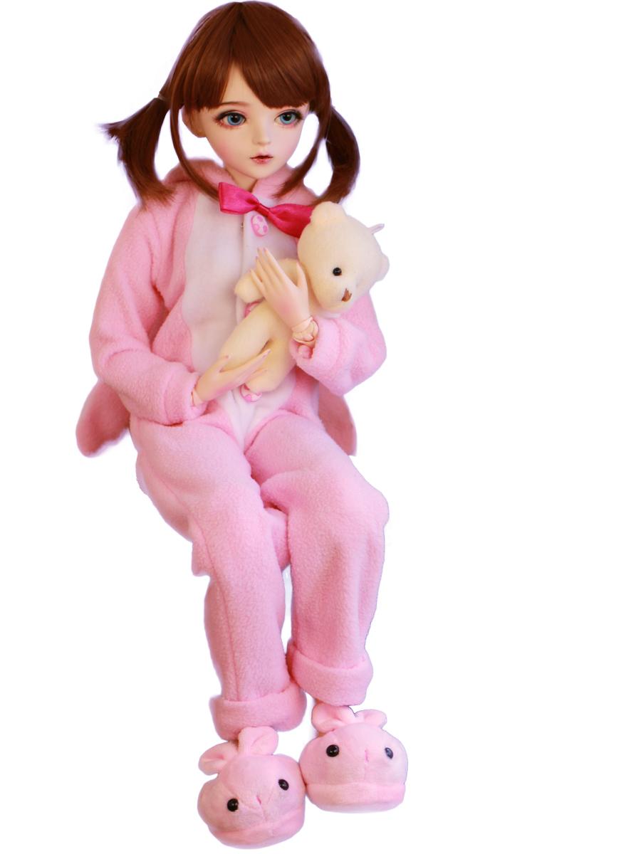 新品 BJDドール 球体関節人形 1/3 60cm 女 人形本体 ヘッド+ボディ+眼球+服装+ウィッグ+メイク フルセット 智美 中国製_画像5