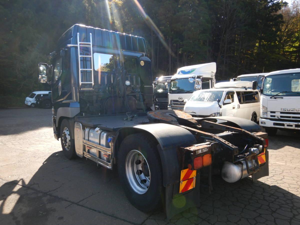 「【CH14823】H23年 三菱 スーパーグレート ヘッド トラクタ トレーラー ハイルーフ 第5輪 9.5t エアサス 税込!」の画像3