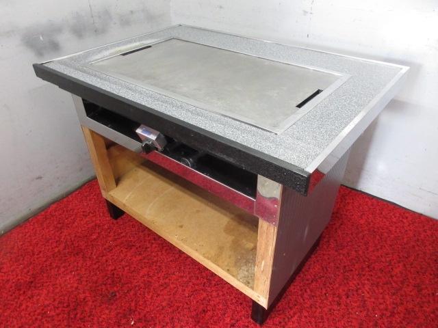 11-34322 中古 鉄板カウンターテーブル 都市ガス 1060×780×760 お好み 鉄板焼き 焼肉 焼きそば うどん もんじゃ ホルモン焼き 店舗 業務_画像2
