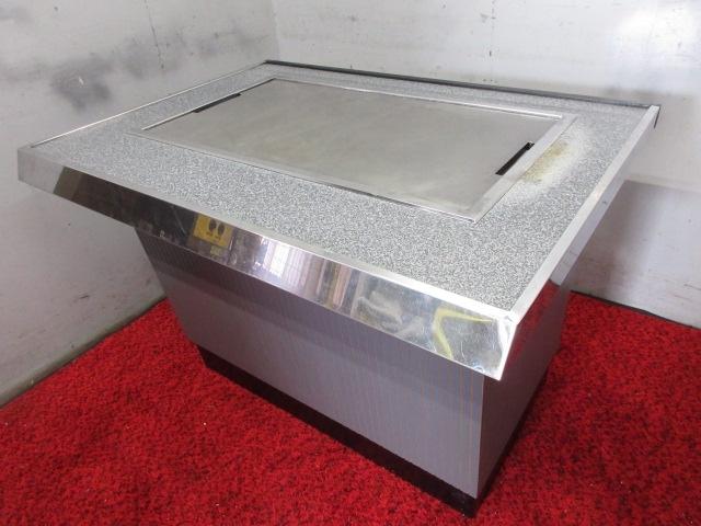 11-34322 中古 鉄板カウンターテーブル 都市ガス 1060×780×760 お好み 鉄板焼き 焼肉 焼きそば うどん もんじゃ ホルモン焼き 店舗 業務_画像1