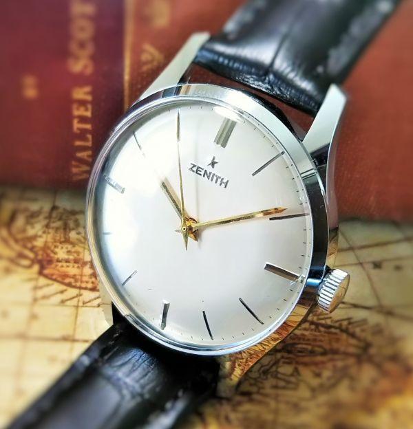 ★Zenithゼニス 2542 1960's 32.1mm シルバースター アンティーク腕時計 メンズウォッチ 手巻き 動作良好 OH済 返品保証 送料無料 希少レア