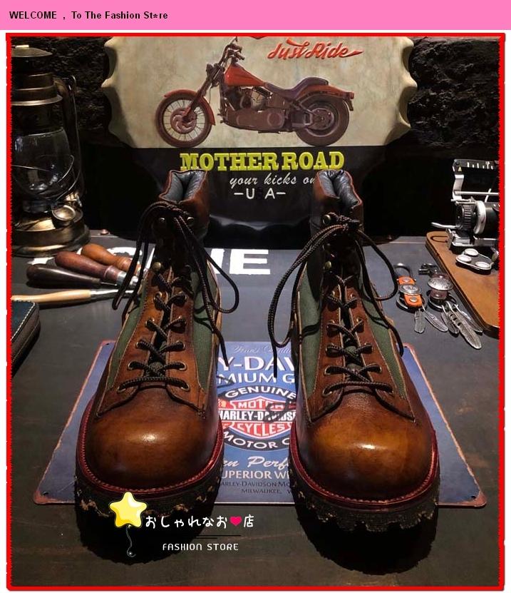 高級感満載!!!純手工細作★上層牛革ブーツ ブーティ マーチンブーツ ロング ブーツ レザーブーツ メンズシューズ サイズ選択可Q98_画像5