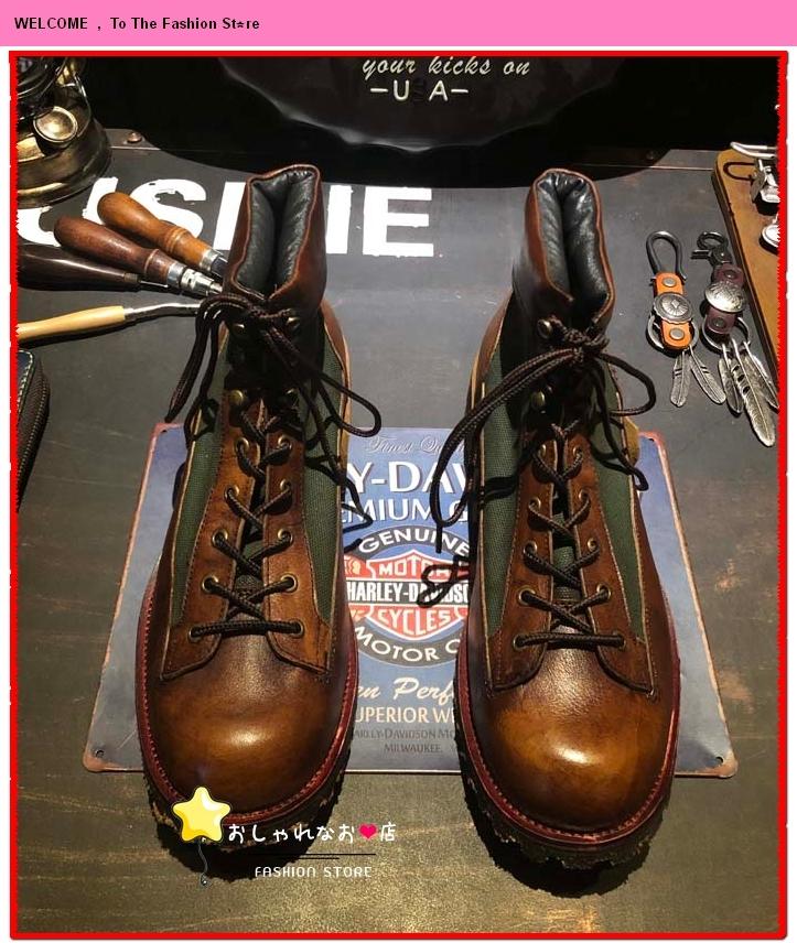 高級感満載!!!純手工細作★上層牛革ブーツ ブーティ マーチンブーツ ロング ブーツ レザーブーツ メンズシューズ サイズ選択可Q98_画像7