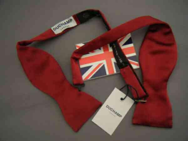 蝶ネクタイ メンズ 紳士 英国製 ドゥシャンDuchamp社 Silk-Bow Wine E127_e127