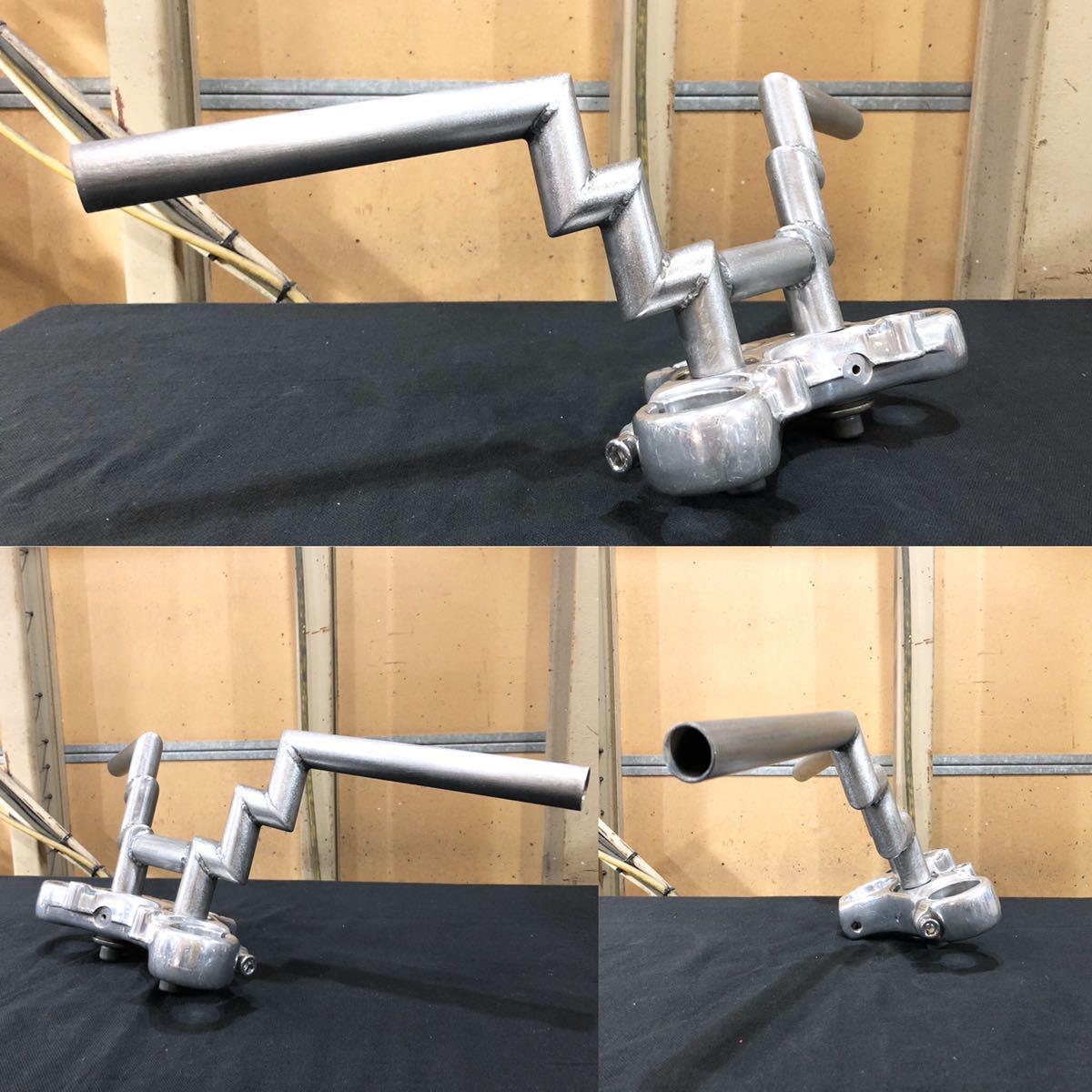 ハーレーワンオフハンドル ダブルZバー ロボット ショベル パン ナックル ナロー フリスコ ビンテージスタイル chopper_画像10