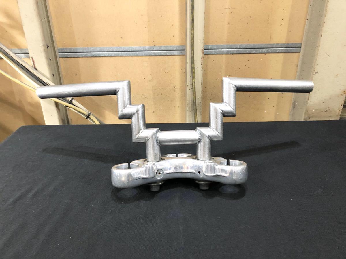 ハーレーワンオフハンドル ダブルZバー ロボット ショベル パン ナックル ナロー フリスコ ビンテージスタイル chopper_画像9