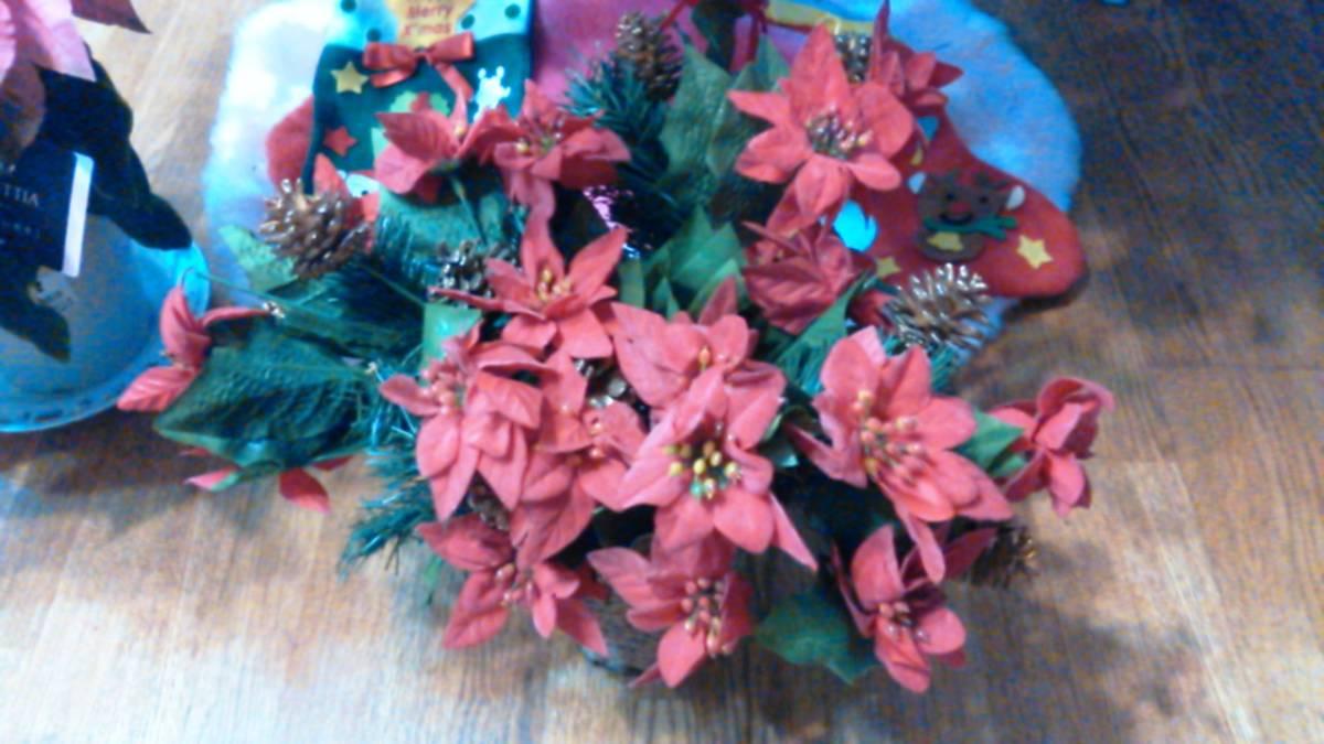 可愛い♪ポインセチア大量クリスマス花飾りフラワーデコ手作りウェディングパーティーDIYハンドメイド結婚式ツリー造花オーナメントリース_画像4