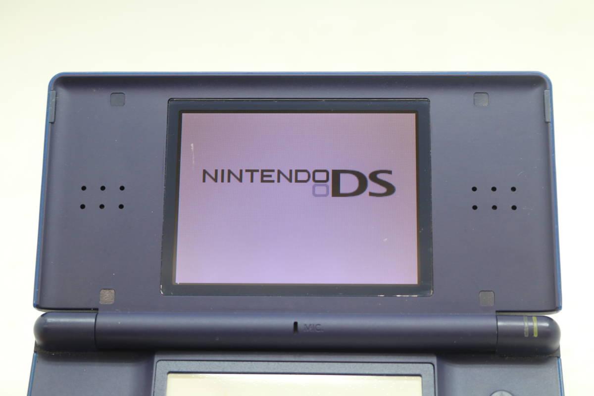 【1円~】【送料無料】【動作品】 Nintendo/任天堂 USG-001 DS Lite ゲーム機 ライト ネイビー_画像4