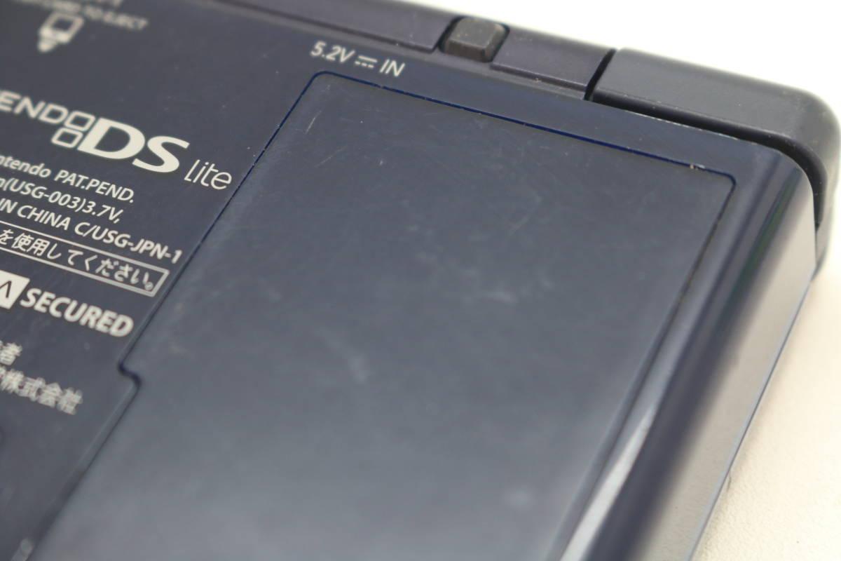 【1円~】【送料無料】【動作品】 Nintendo/任天堂 USG-001 DS Lite ゲーム機 ライト ネイビー_画像7