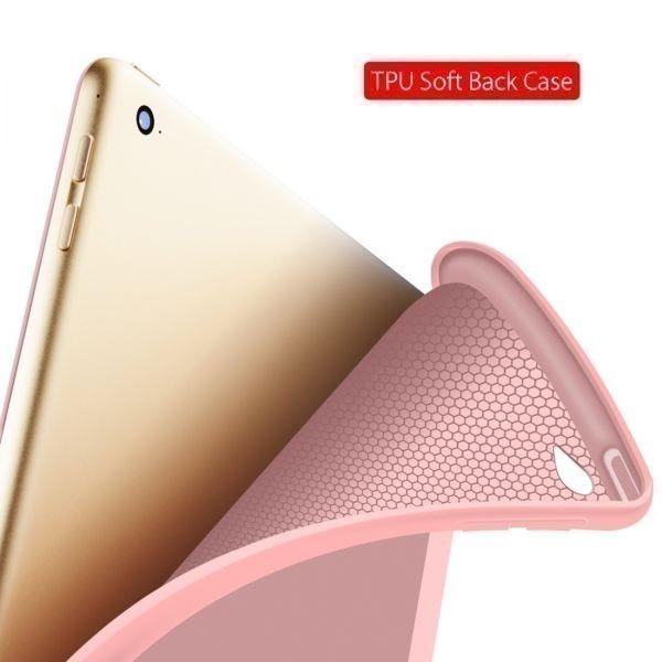 Ipad 2018 9.7 Funda シリコンソフトバックカバーケース 2017 Pu レザースマートケース iPad 6th 世代ケース 10.2 2019 Red_画像5