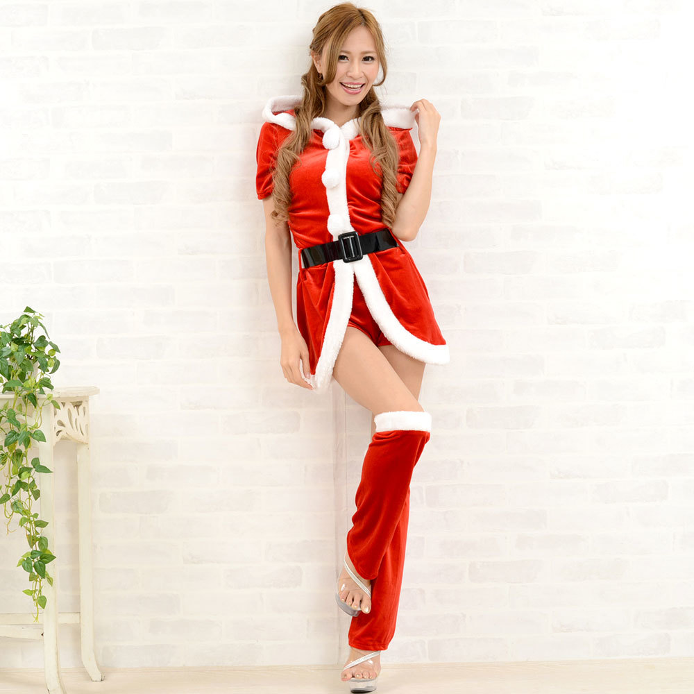【クリスマス】 セクシーサンタさん 【コスプレ】 4点セット サンタコスチューム 衣装 パーティー/キャバドレス チャムドレス_画像2