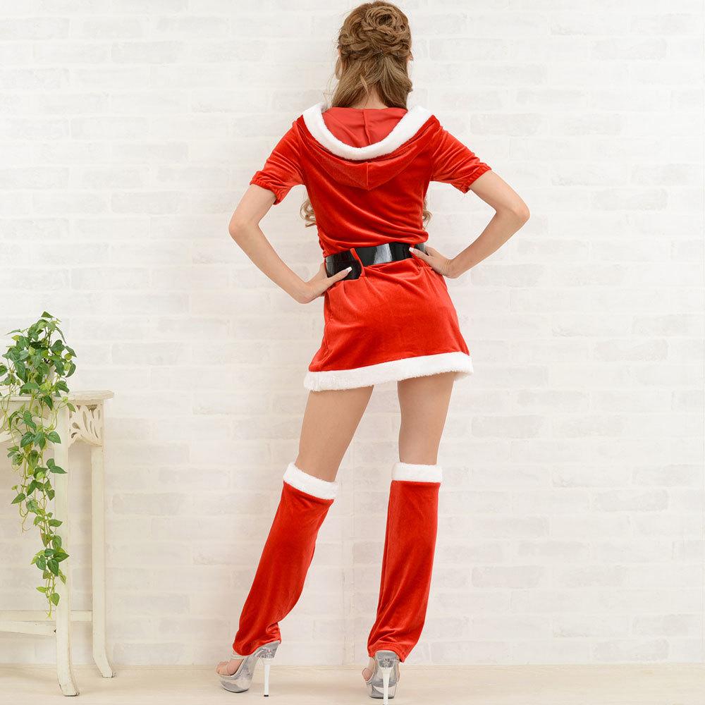 【クリスマス】 セクシーサンタさん 【コスプレ】 4点セット サンタコスチューム 衣装 パーティー/キャバドレス チャムドレス_画像6