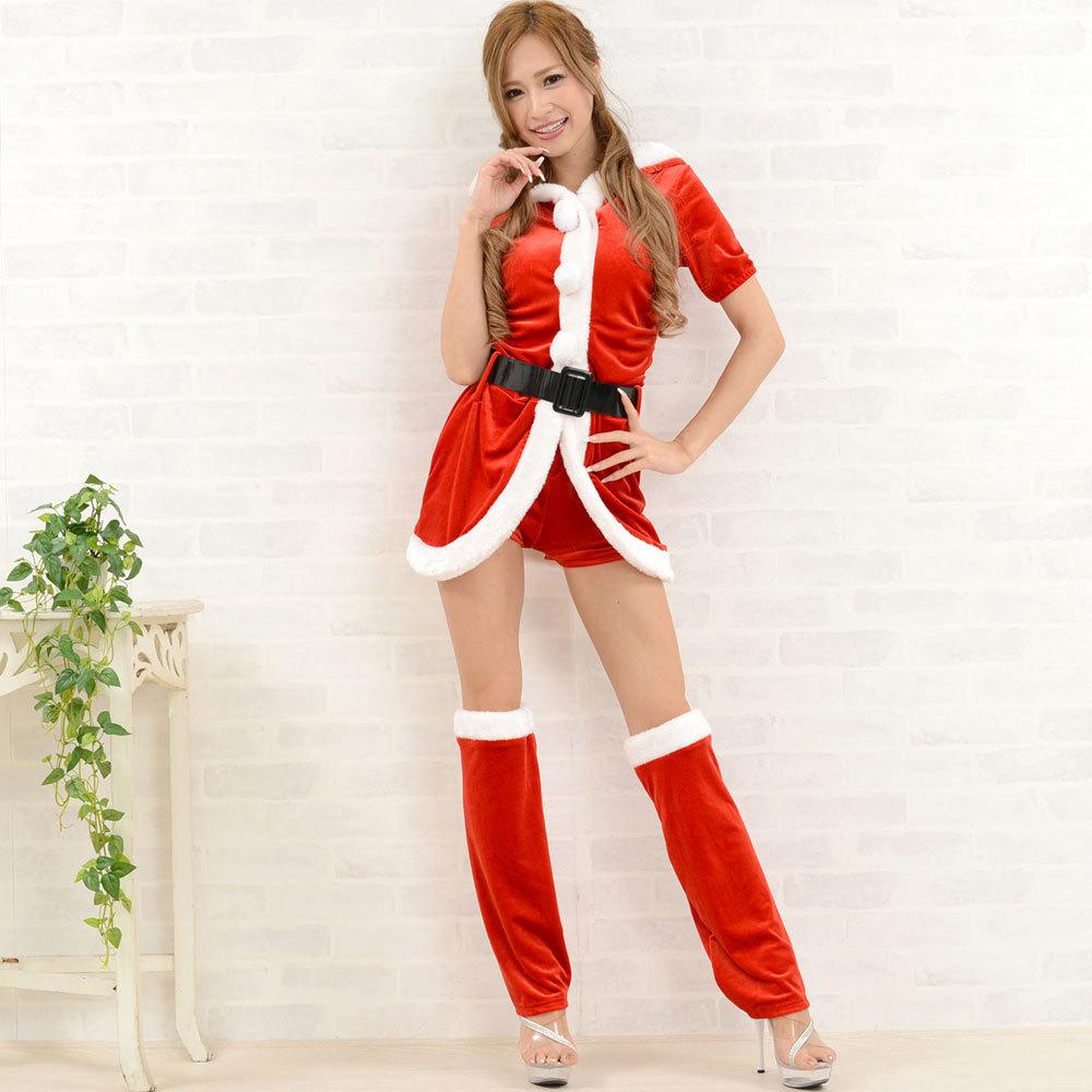 【クリスマス】 セクシーサンタさん 【コスプレ】 4点セット サンタコスチューム 衣装 パーティー/キャバドレス チャムドレス_画像3