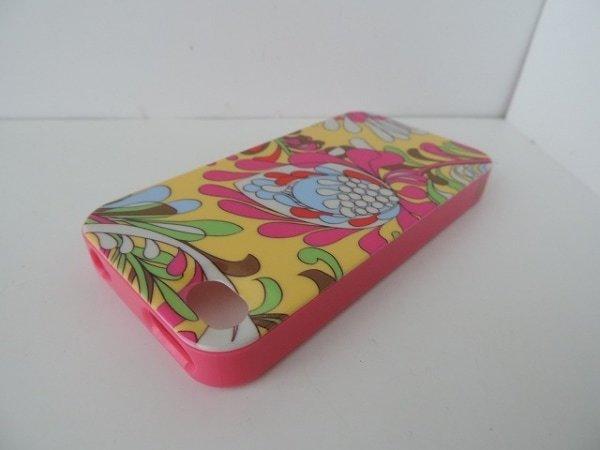 ケイトスペード Kate spade 財布 携帯電話ケース プラスチック ピンク×マルチ 花柄/iPhone4ケース_画像2
