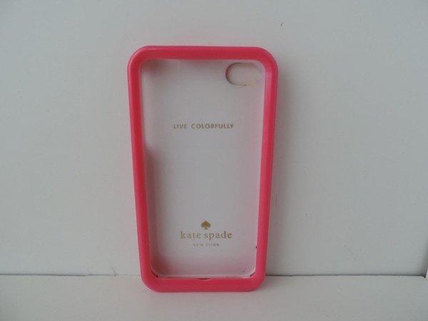 ケイトスペード Kate spade 財布 携帯電話ケース プラスチック ピンク×マルチ 花柄/iPhone4ケース_画像3