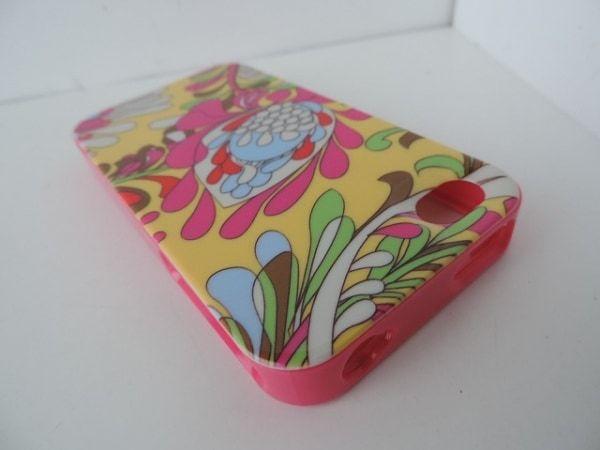 ケイトスペード Kate spade 財布 携帯電話ケース プラスチック ピンク×マルチ 花柄/iPhone4ケース_画像6