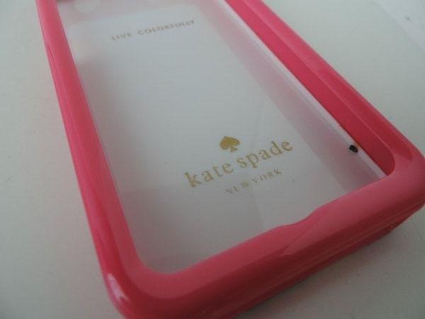 ケイトスペード Kate spade 財布 携帯電話ケース プラスチック ピンク×マルチ 花柄/iPhone4ケース_画像4