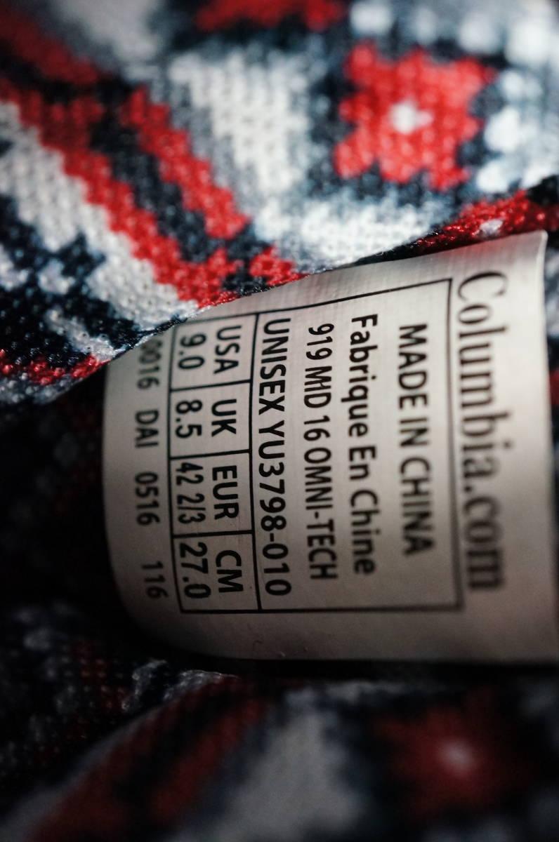 *未使用/Clombia コロンビア 919 Mid 16 Omni-Tech 27cm ◆YU3798 クイックミッド オムニテック トレッキングシューズ  ブーツ BK_画像8