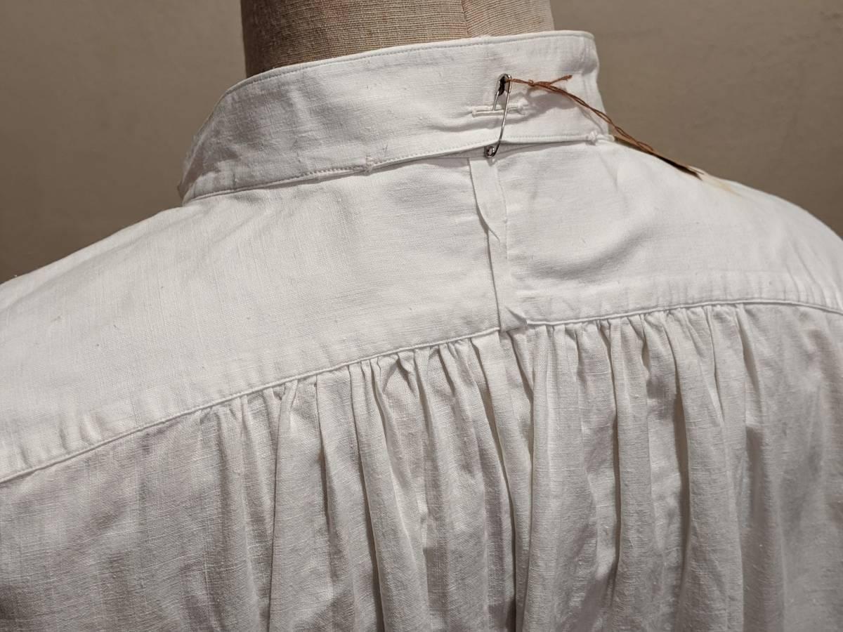 フランスアンティーク00's10's20's襞胸ドレスシャツ/ヴィンテージ30'sフォーマルタキシード燕尾服ヨーロッパフレンチ古着ΓMT_画像6
