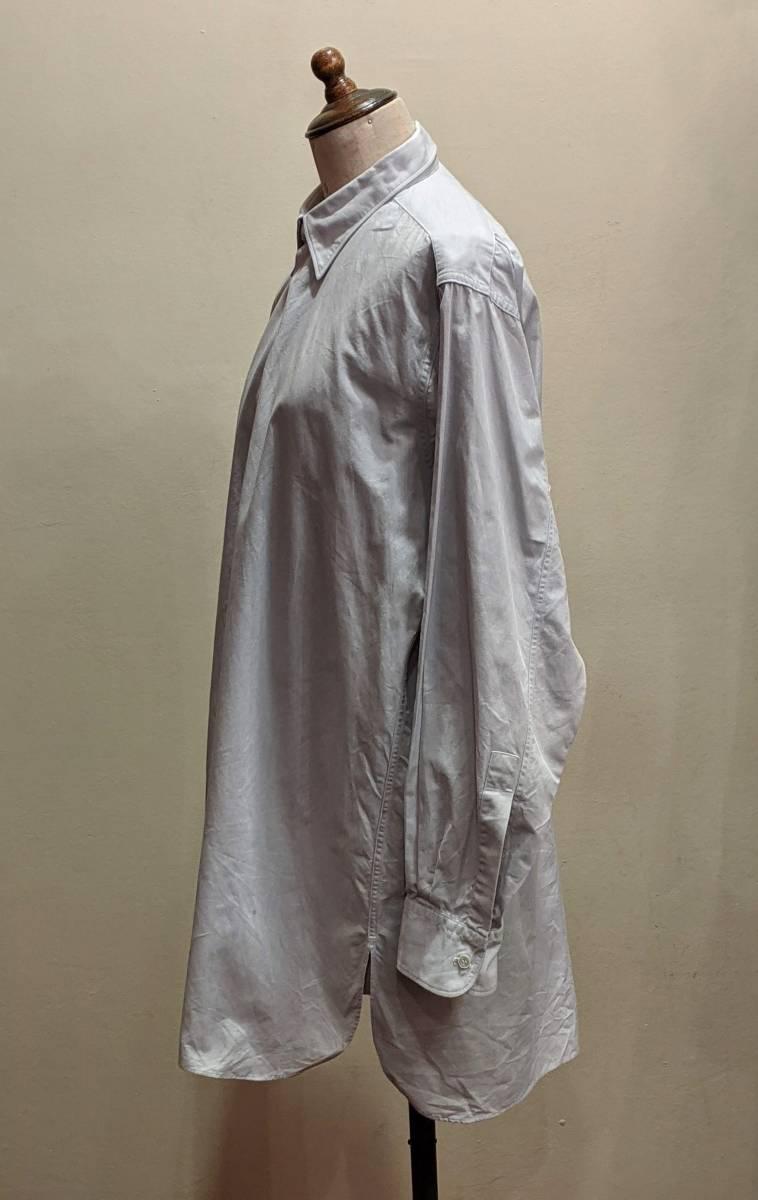フランスヴィンテージ50's60'コットンシャツ/ヨーロッパフレンチ古着ワークドレス20's30's40'sSWINGロカビリーモッズΓMT_画像4
