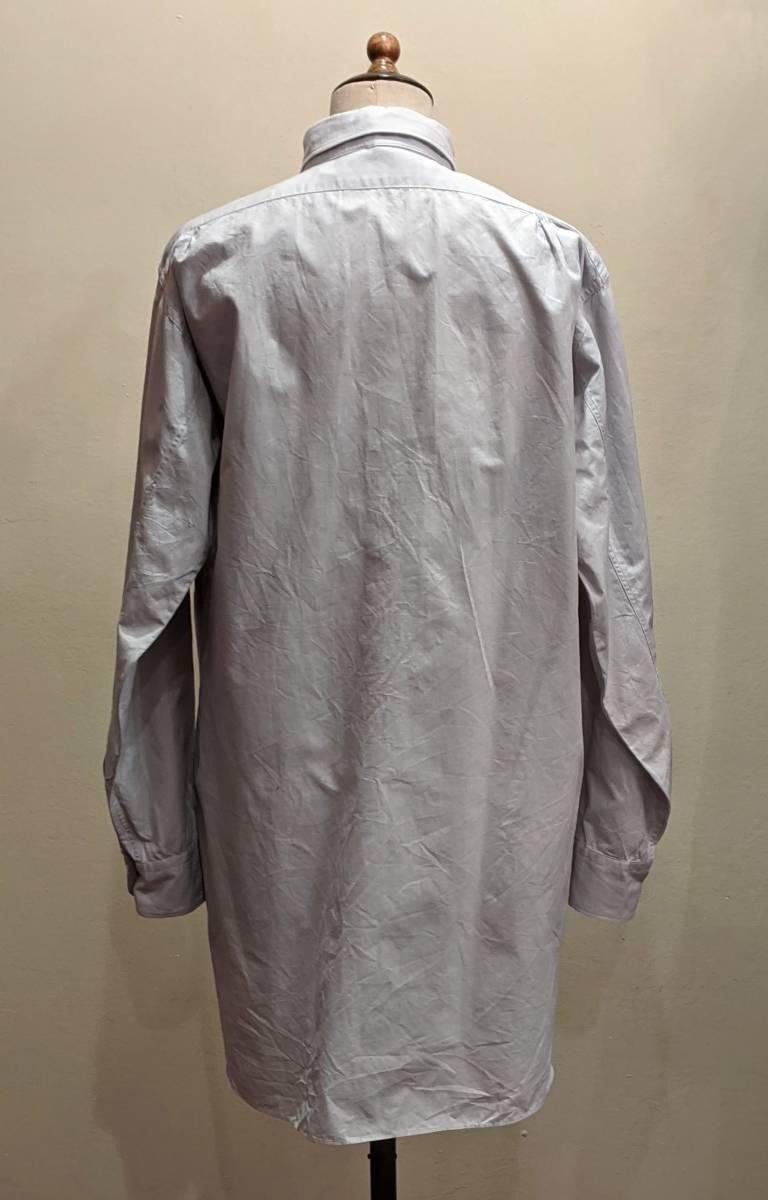 フランスヴィンテージ50's60'コットンシャツ/ヨーロッパフレンチ古着ワークドレス20's30's40'sSWINGロカビリーモッズΓMT_画像3