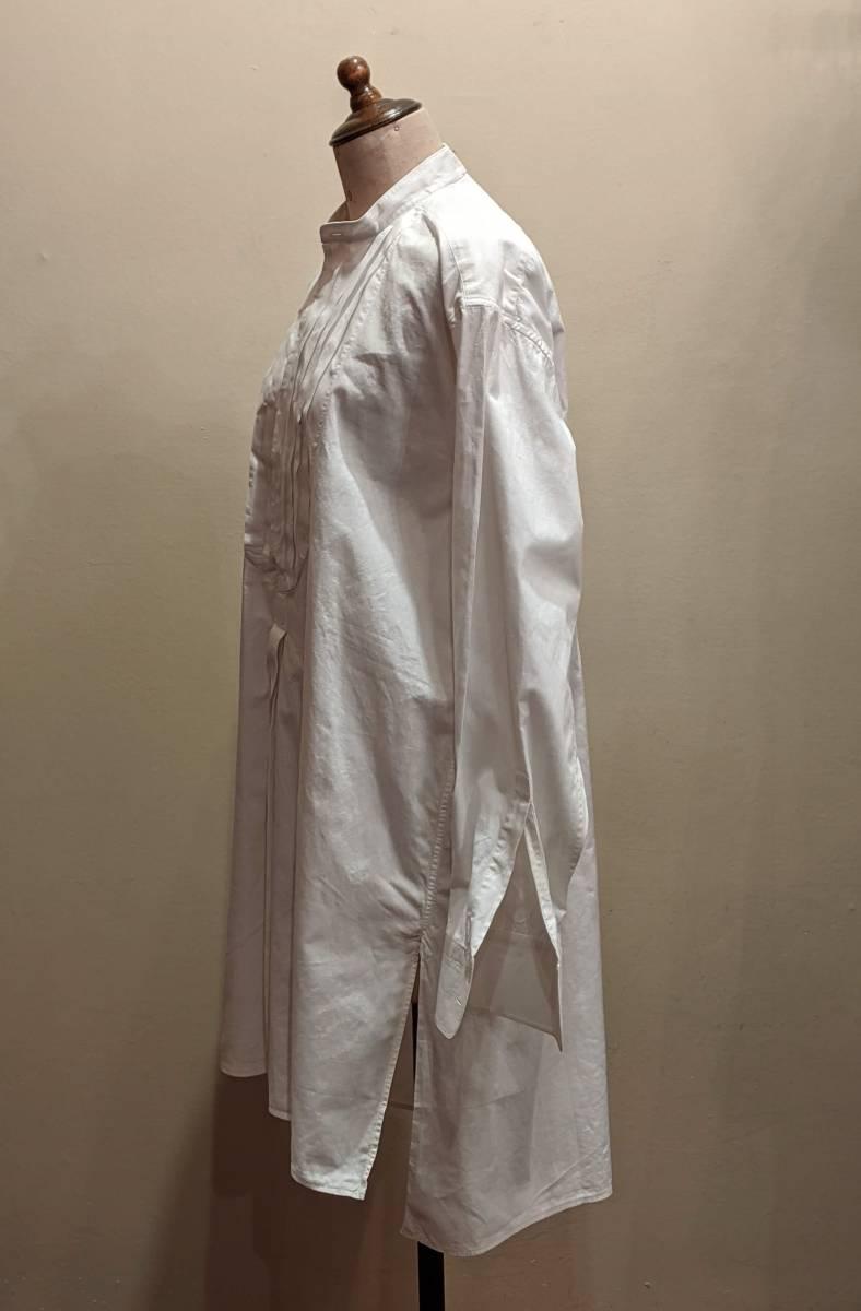 フランスアンティーク00's10's20's襞胸ドレスシャツ/ヴィンテージ30'sフォーマルタキシード燕尾服ヨーロッパフレンチ古着ΓMT_画像4