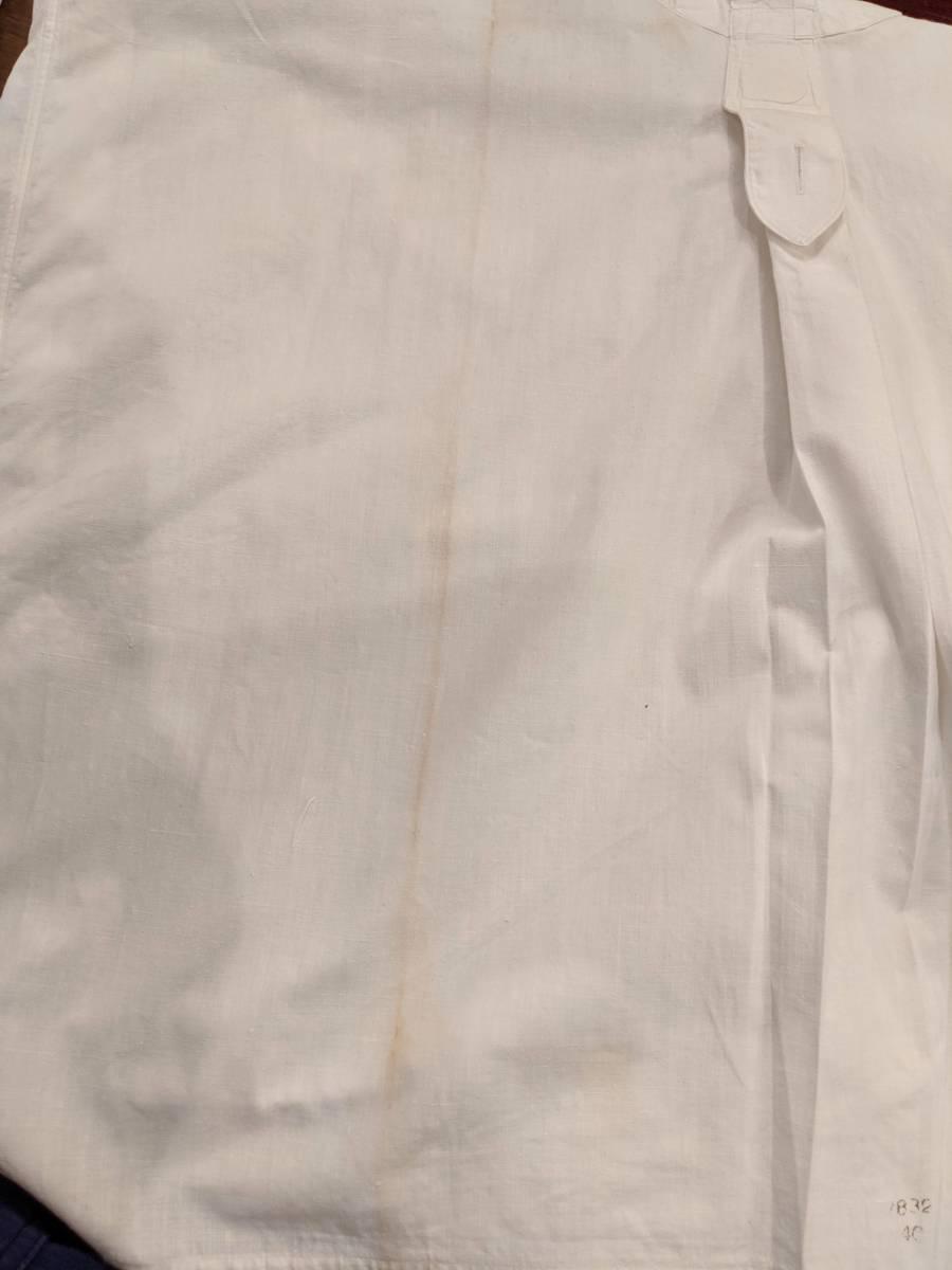 フランスアンティーク00's10's20's襞胸ドレスシャツ/ヴィンテージ30'sフォーマルタキシード燕尾服ヨーロッパフレンチ古着ΓMT_画像8