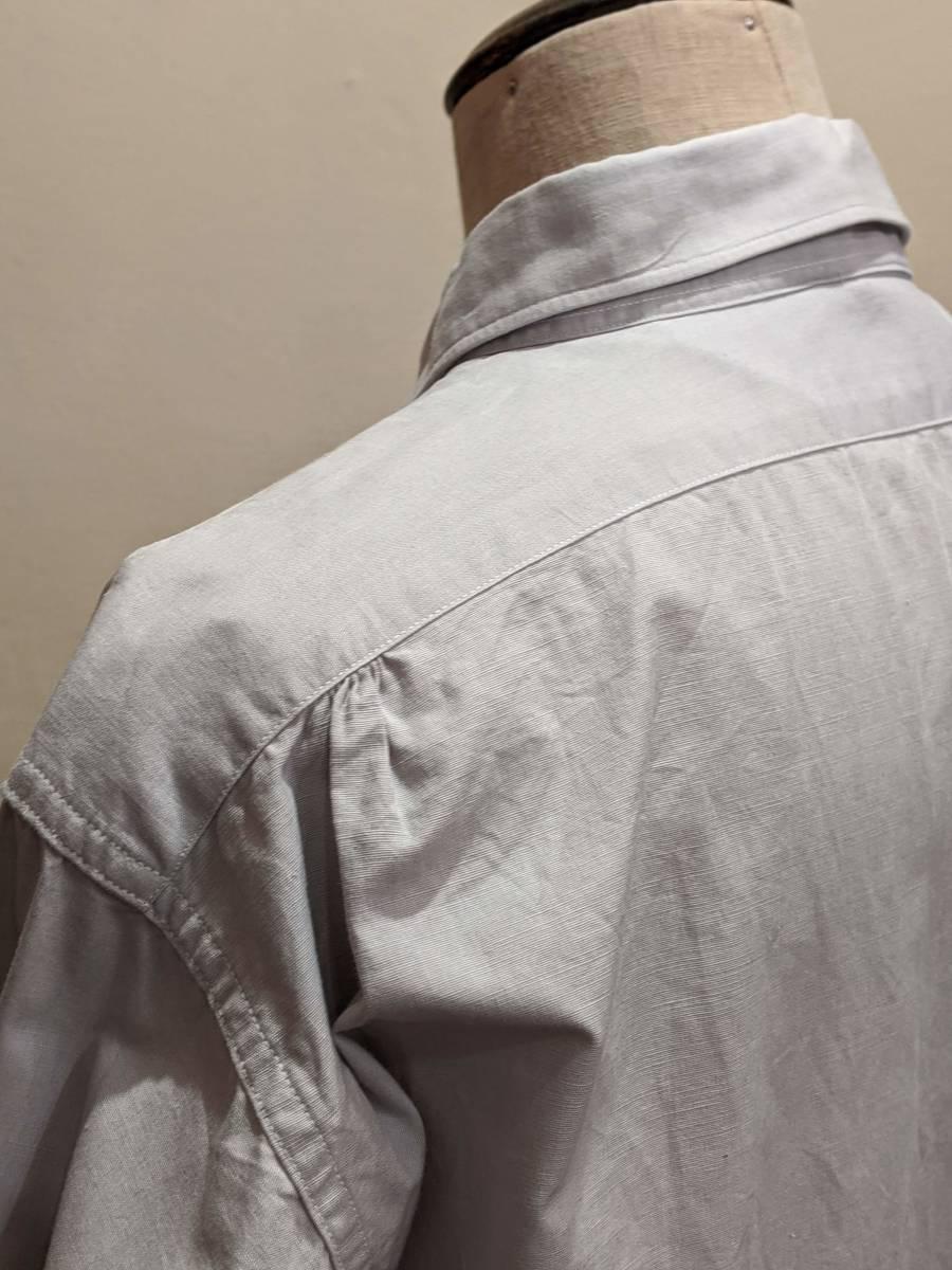 フランスヴィンテージ50's60'コットンシャツ/ヨーロッパフレンチ古着ワークドレス20's30's40'sSWINGロカビリーモッズΓMT_画像7