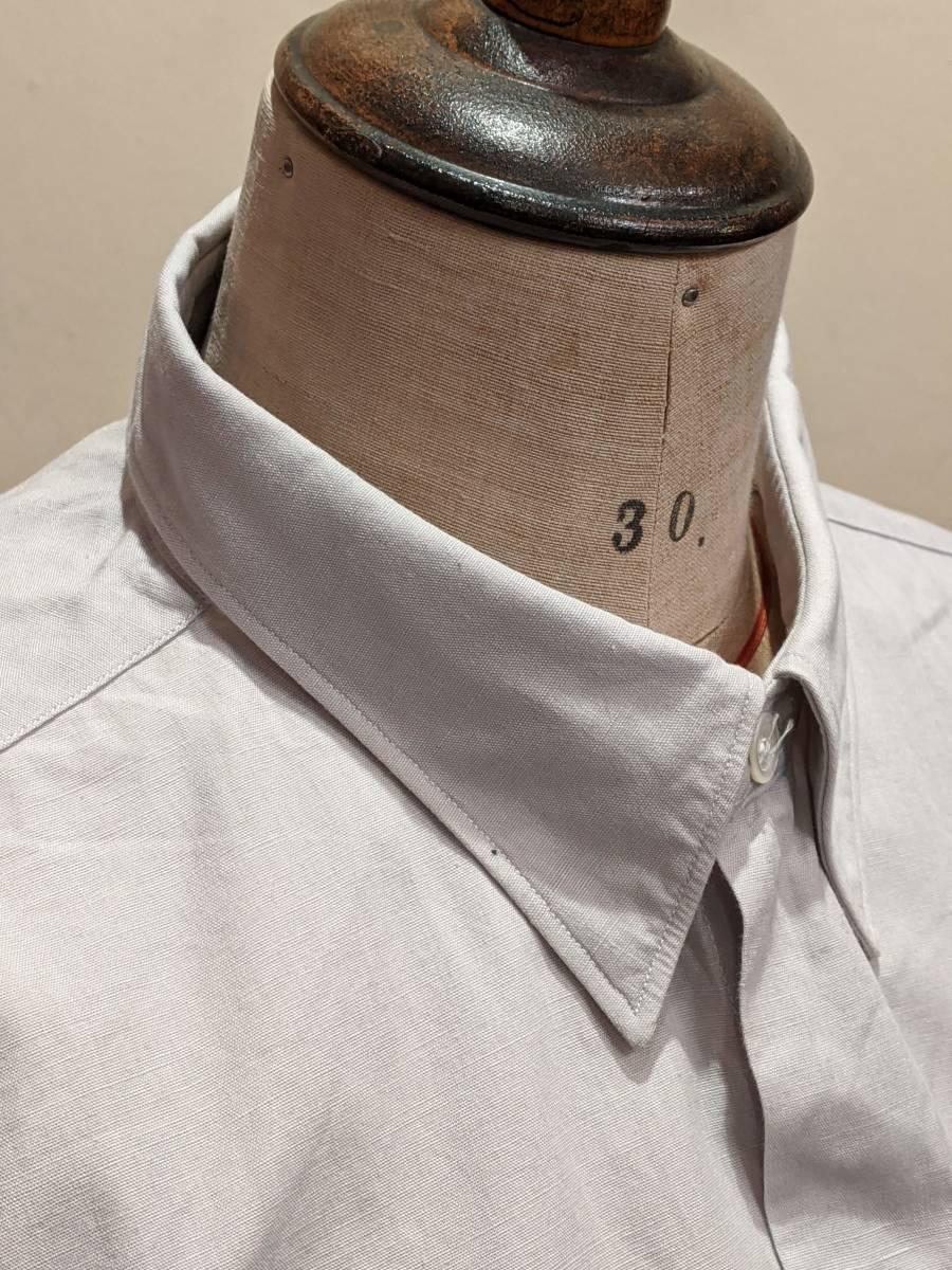 フランスヴィンテージ50's60'コットンシャツ/ヨーロッパフレンチ古着ワークドレス20's30's40'sSWINGロカビリーモッズΓMT_画像5