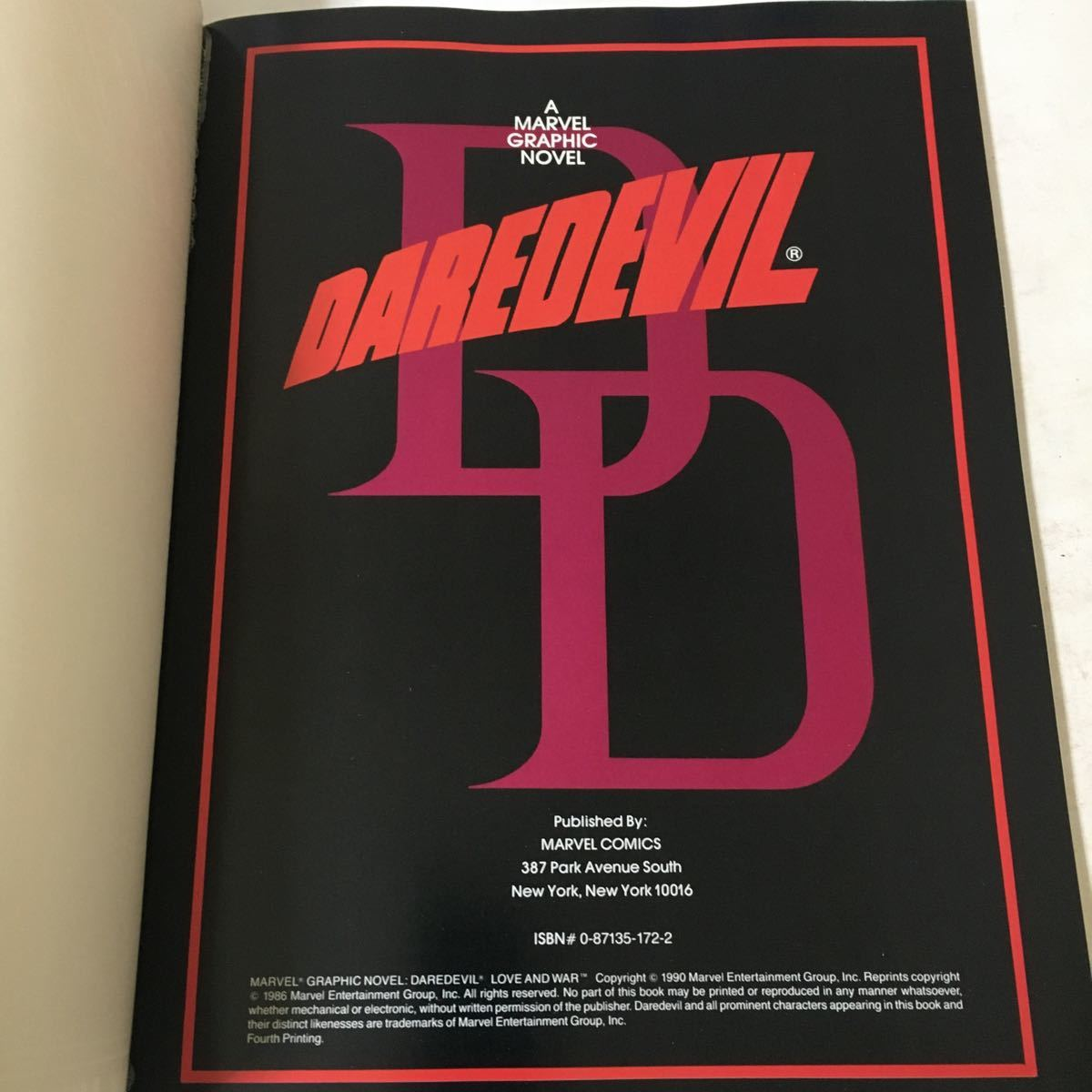 Daredevil: Love and War / Frank Miller Marvel Enterprises 1990年_画像2