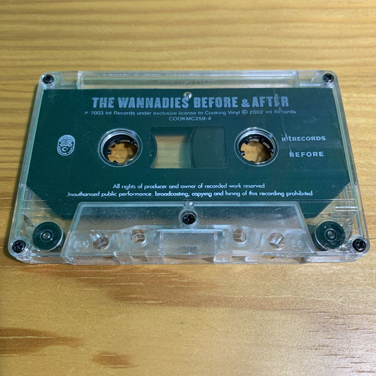 The Wannadies「Before & After」カセットテープ 輸入盤 正規品 OFFICIAL アナログ ワナダイズ ギターポップ パンク天国 2003 名作 激レア!_画像5