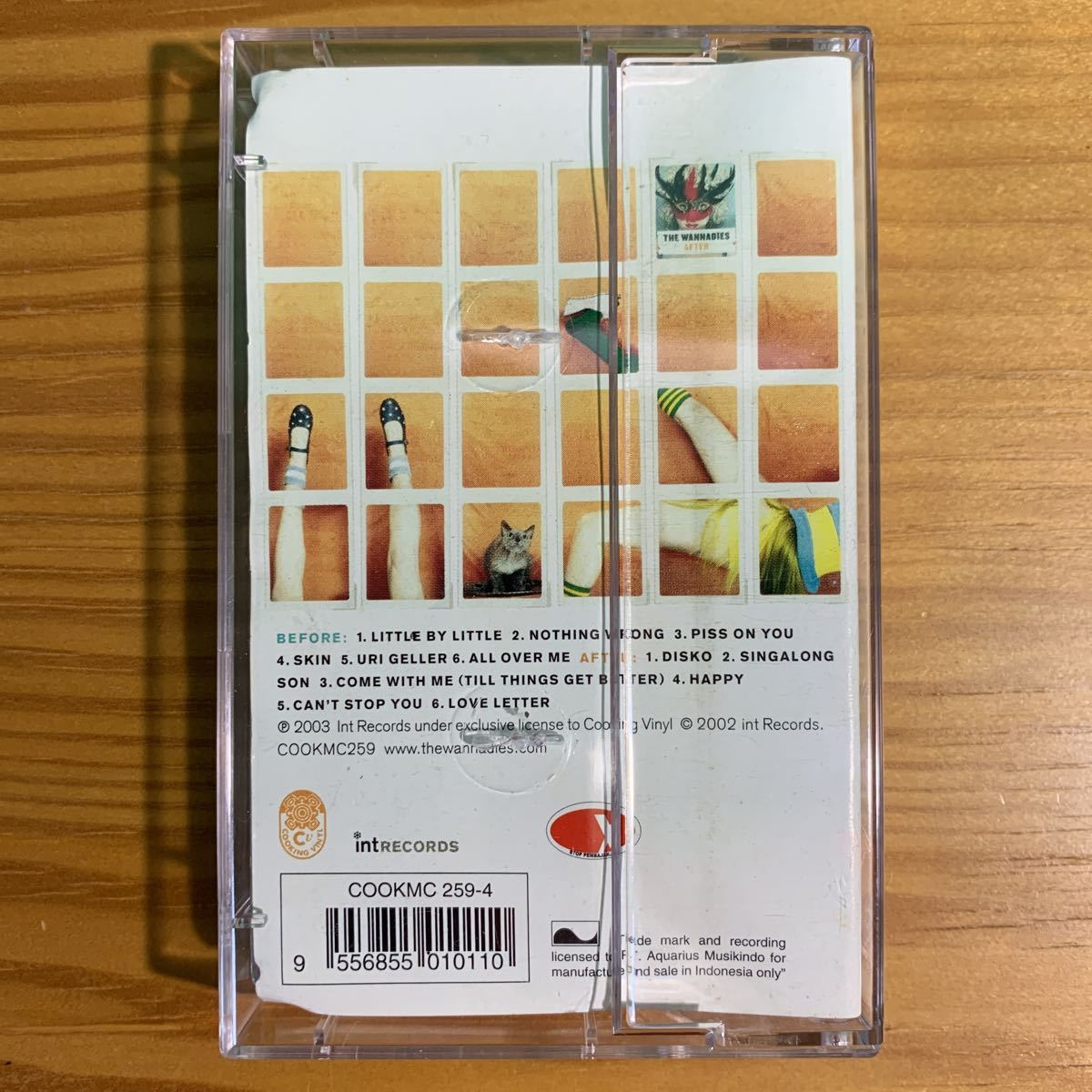 The Wannadies「Before & After」カセットテープ 輸入盤 正規品 OFFICIAL アナログ ワナダイズ ギターポップ パンク天国 2003 名作 激レア!_画像2