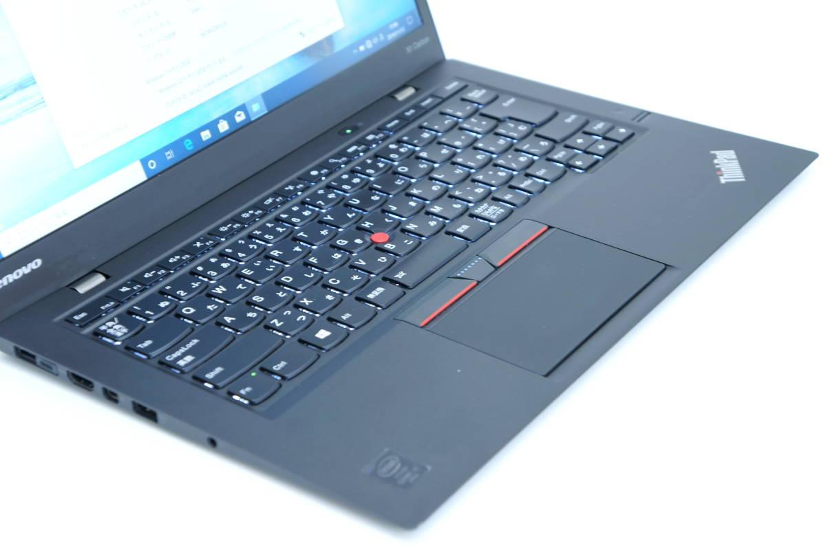 【即配】第5世代Corei5搭載薄ボディモバイル!! X1 Carbon i5-5300U 14型FHD液晶! 8G SSD128G BL-KB Office Win10 _画像2