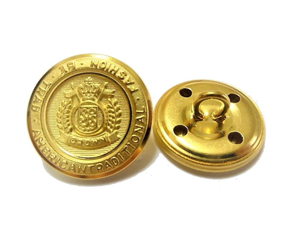 送料無料 手芸 素材 ジャケット用 約21mm 4個 約15mm 8個 艶消し ゴ-ルド色系 家紋調 金属 ボタン 12個入り jk011