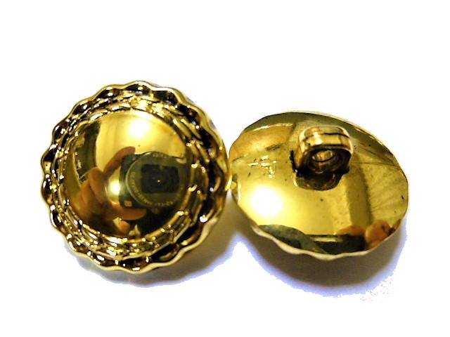 手芸 素材 縫製材料 ジャケット用 約20mm 4個 約15mm 8個 金色x黒色 花びら風 メタル ABS ボタン 12個入り jk085