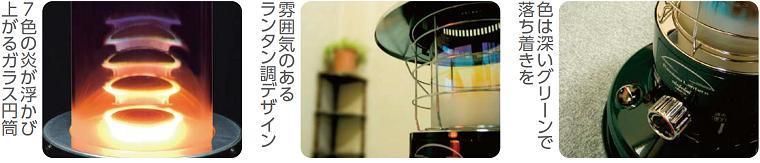 トヨトミ対流型石油ストーブRL-250-G グリーン / リビルト品 / Rainbow キャンプ、アウトドアに!_画像2