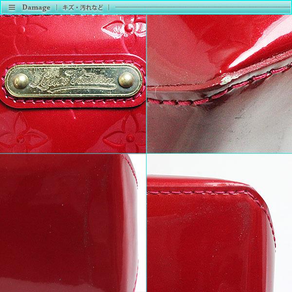 Louis Vuitton ルイヴィトン モノグラム・ヴェルニ ウィルシャー PM ハンドバッグ M93642 ポムダムール レディース ボルドー レッド _画像4